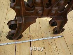 1800's Working Wood Beam Barn Hay TROLLEY with DROP PULLEY, Amish Sale Find