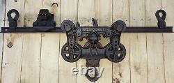 1894 Working LOUDEN MACHY. CO. TROLLEY, DROP PULLEY, TRACK, Fairfield, Ia