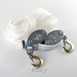 2 Ton Rope Hoist Pulley Wheel Block and Tackle 4,000lb Wild Game Deer Hanger NEW