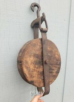 21 Industrial Wood Steel Brass Rope Pulley Nautical Ships Block Tackle Boat