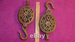 3 THREE! Vtg Cast BRASS Pulley Maritime Nautical Block Tackle Steampunk