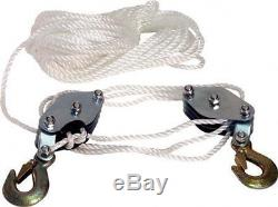 3 WHEEL ROPE BLOCK AND TACKLE PULLEY HOIST TOOL LIFT LIFTING PULLY RIGGING TOOL