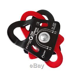 40kN Micro Double Pulley Block and Tackle Kit with Rope Climbing Rescue Arborist