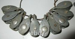 60 + All Working Single 1 3/4 2 1/4 Inch Vintage Rope Or Nautical Pulleys