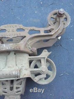 ANTIQUE BARN TROLLEY F. E. MYERS UNLOADER N0. H321 Hay Unloader Farm Tool
