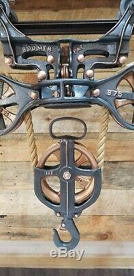 ANTIQUE BOOMER HAY CARRIER UNLOADER TROLLEY COMPLETE RESTORATION FROM 1900's