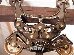 ANTIQUE HAY TROLLEY HAY CARRIER UNLOADER PROVANS PATENT DROP PULLEY TOOL 1893