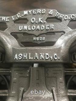 ANTIQUE/PRIMITIVE F. E MYERS Ashland HAY TROLLEY ORIGINAL RESTORED RUSTIC DECOR