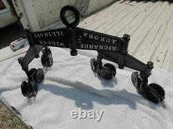 ANTIQUE PRIMITIVE HAY TROLLEY Aurora Ill. Richards-Wilco. Sand blasted & Painted
