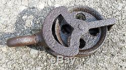ANTIQUE WHITCOMB HAY PULLEY PAT'D 1864 CIVIL WAR ERA BARN TROLLEY BLOCK TACKLE