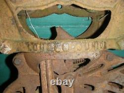 Antique 1890s 1900's 1920s Louden Junior Barn Farm Hay Trolley Carrier Cast Iron