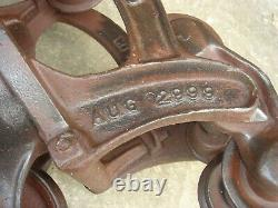 Antique 1899 Vintage Louden Hay Trolley Pulley Unloader Barn FREE SHIPPING