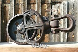 Antique BOOMER Hay Trolley Pulley Carrier Cast Iron Steam Punk Industrial