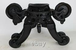 Antique Cast Iron Black Painted Barn Hay Trolley Main Shuttle Piece 17 x 12