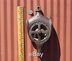 Antique Cast Iron & Brass Hay Trolley Drop Pulley Ney Steampunk Industrial Barn