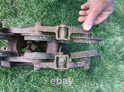 Antique Cast Iron F. E. Myers & Bro. Co. Adjustable Hay Unloader Trolley Pulley