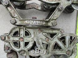 Antique Cast Iron G. A. Olson barn Loft Hay Trolley with ...