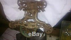Antique Cast Iron Gross MEYERS Unloader H-426 Barn Hay Trolley Pulley
