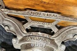 Antique Cast Iron HAY UNLOADER BARN TROLLEY DETROIT MI NICE! Clover Leaf 1903