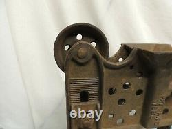 Antique Cast Iron Hay Barn Trolley Double Pulley DIY Project