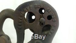 Antique Cast Iron Hay Carrier, Trolley, Unloader, JA Cross, Fultonville NY, 1883