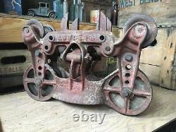 Antique Cast Iron Hay Trolley Barn Carrier Louden Vintage Farm Tool 1894 Patent