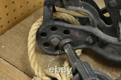 Antique Cast Iron Hay Trolley Farm Barn Tool