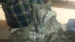 Antique Cast Iron Minneapolis Moline Hay Trolley & Pulley Industrial Primitive