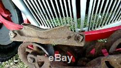 Antique Cast Iron RARE Unloader Barn Hay Trolley & Pulley COMPLETE