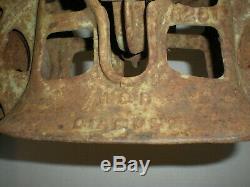 Antique Cast Iron W & B DIAMOND Hay Trolley vtg Very Heavy Tool
