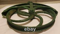 Antique Cast Iron Well Pulley Antique Old Farm Wheel Barn Steampunk