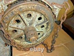 Antique Chisholm Moore Hoist (made In Cleveland, Oh)