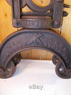 Antique EAGLE Appleton Mfg. Co. Hay Trolley Carrier Unloader Barn Decor