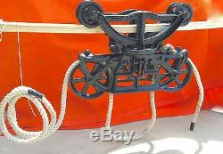 Antique Early 1900's Hunt Helm Ferris The Harvester Hay Trolley Harvard Illinois