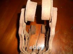 Antique F. E. MYERS HAY UNLOADER BARN TROLLEY Iron Pulley Farmhouse Industrial