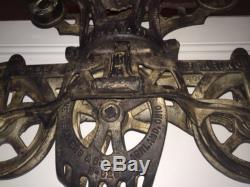 Antique F. E. MYERS O K Cast Iron Farm Barn Pulley