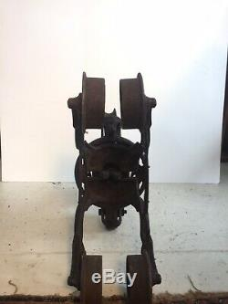 Antique F E Meyers and Brothers Bros Hay Trolley cast iron architectural farm