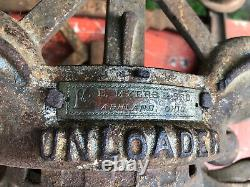 Antique F. E. Myers & Bro. Cloverleaf Hay Trolley Unloader Pulley- Nice