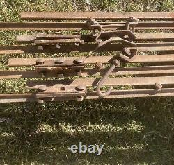 Antique F E Myers Cloverleaf Hay Trolley Rail Grapples Complete Setup