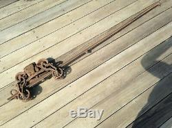 Antique FE Myers & Bro. Cast Iron OK Hay Barn Trolley Pulley c 1884 Unloader