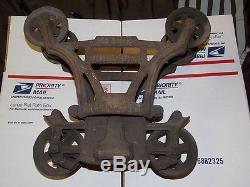 Antique FE Myers & Bro. Farm Barn Hay Unloader Trolley Pulley Cast Iron