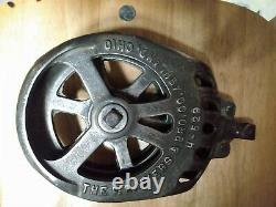 Antique FE Myers Hay Unloader Trolley Fantastic Patina with Rope and Pulley