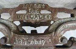 Antique Farm Barn Primitive F E MYERS & Bros OK Unloader Hay Trolley Pulley