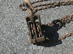 Antique Ford Chain Block Company Weston Differential 1/2 Ton Chain Hoist