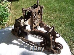 Antique Goshen Cast Iron Hay Trolley Good Condition