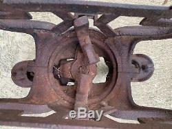 Antique HAYMAKER Hay Trolley Barn Trolley Hay Unloader Barn Primitive ST LOUIS