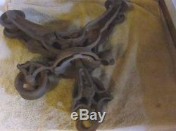Antique Hay Trolley Cast Iron Farm Tool Barn Pulley Carrier Unloader STARLINE
