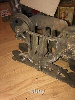 Antique Hay Trolley Unloader Ff Myers In Good Rustic Condition