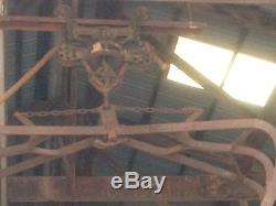Antique Hay Trolley With Myers Large Hay Claw Track Rope Cast Iron Farm Barn Tool