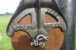 Antique Hudson Barn Pulley Block and Tackle Farm Trolley Cast Iron